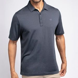NEW Travis Mathew THE ZINNA Polo S Indigo Black